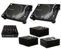 2x Pioneer PLX-1000 + Xone:43 + Odyssey Black Label Cases