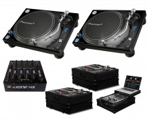 2x Pioneer PLX-1000 + Xone:43 + Black Label Cases + Glide Style Case