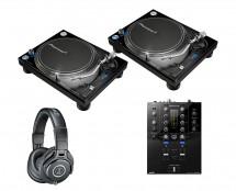 2x Pioneer PLX-1000 + DJM-S3 + ATH-M40X