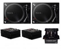 2x Pioneer PLX-500 + Allen & Heath Xone:23C + 2x Odyssey Cases
