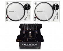 2x Pioneer PLX-500 (White) + Allen & Heath Xone:23C