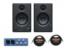 PreSonus Eris E3.5 (Pair) + AUDIOBOX USB 96 + Cables