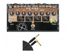 Radial Tonebone PZ-Pre Acoustic DI + 10' Mogami Cable
