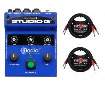 Radial Studio-Q + Dual Cables