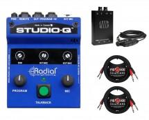 Radial Studio-Q + PreSonus HP2 + Dual Cables