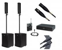 RCF EVOX JMIX8 + RCF EVOX J8 + Sennheiser XSW 1-ME2 + Mogami Cables