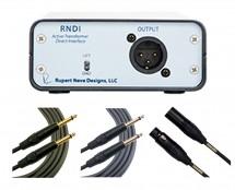 Rupert Neve Designs RNDI + Mogami 10', 18' TS + 20' XLR