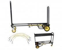 Rock N Roller R2RT Micro-Cart + Flex Straps + Carpeted Shelf