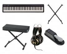 Roland FP-10BK Digital Piano, Stand, Bench, Headphones, Sustain