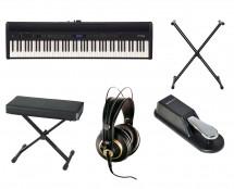 Roland FP-60BK Digital Piano + Stand + Bench + Headphones + Sustain