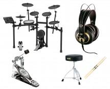 Roland TD-17KLS Electronic Drum Set + Kick Pedal + Throne + Headphones + Sticks
