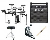 Roland TD-17KVS Electronic Drum Set + Monitor + Kick Pedal + Throne + Sticks