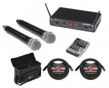 Samson Concert 288 Dual Hand Held Mic Wireless (I Band) + Case + Mixer