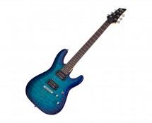Schecter C-6 Plus Electric Guitar - Ocean Blue Burst