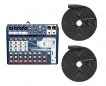 Soundcraft Notepad-12FX + XLR Cables