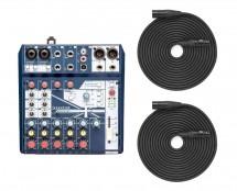 Soundcraft Notepad-8FX + XLR Cables