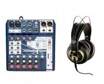 Soundcraft Notepad-8FX + AKG K 240 Studio