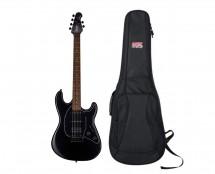Sterling by Music Man S.U.B. Cutlass HSS in Stealth Black + Gator Gig Bag