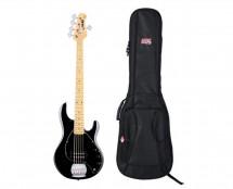 Sterling by Music Man StingRay5 Black + Gator Gig Bag