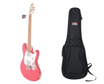 Sterling by Music Man S.U.B. StingRay Guitar in Fiesta Red + Gator Gig Bag