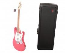 Sterling by Music Man S.U.B. StingRay Guitar in Fiesta Red + Gator Hard Case