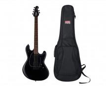 Sterling by Music Man S.U.B. StingRay Guitar in Stealth Black + Gator Gig Bag