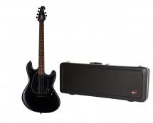Sterling by Music Man S.U.B. StingRay Guitar in Stealth Black + Gator Hard Case