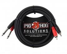 "Pig Hog PD-R1410 10ft RCA-1/4"" Dual Cable"