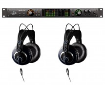 Universal Audio Apollo X6 Thunderbolt 3 + AKG K240 MKII