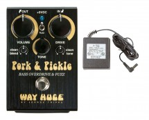 Way Huge WHE214 Pork & Pickle Bass OD/Fuzz + Power Supply