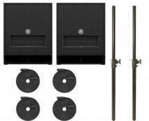 2x Yamaha DXS15 MKII + 2x Subwoofer Pole + XLR Cables