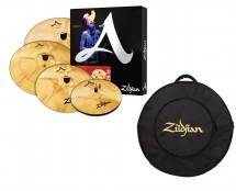 """Zildjian A Custom 4 -Piece Matched Cymbal Set + FREE Zildjian 22"""" Gig Bag - Open Box"""