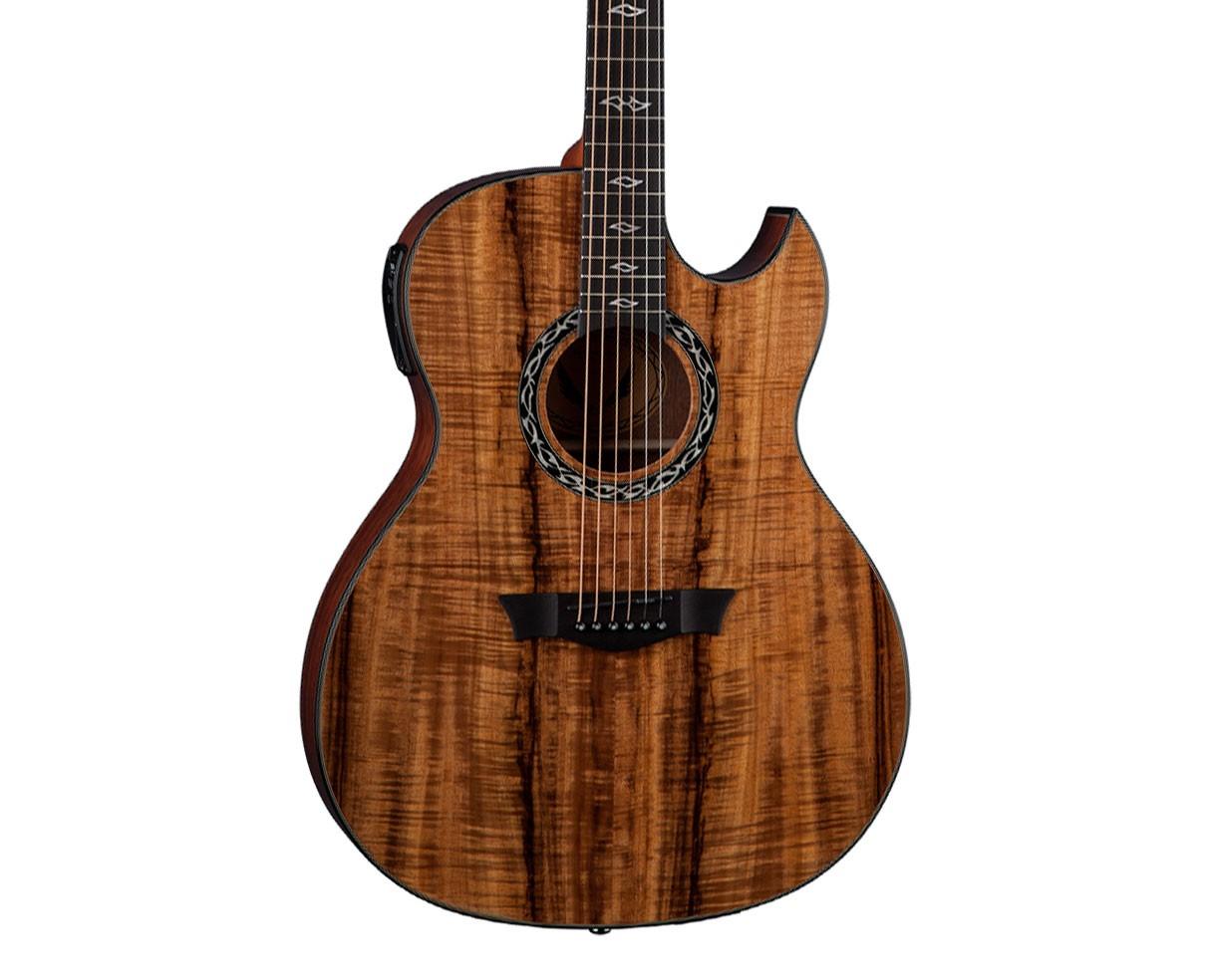 dean guitars exhibition acoustic electric guitar koa ebay. Black Bedroom Furniture Sets. Home Design Ideas