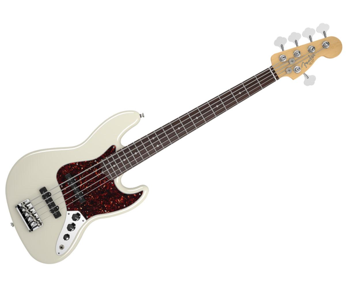 fender american standard jazz bass v five string rosewood white proaudiostar ebay. Black Bedroom Furniture Sets. Home Design Ideas