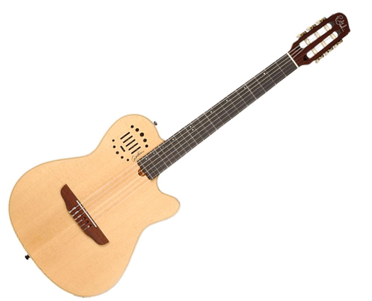 godin guitars multiac nylon duet ambiance electric acoustic nylon string guitar ebay. Black Bedroom Furniture Sets. Home Design Ideas