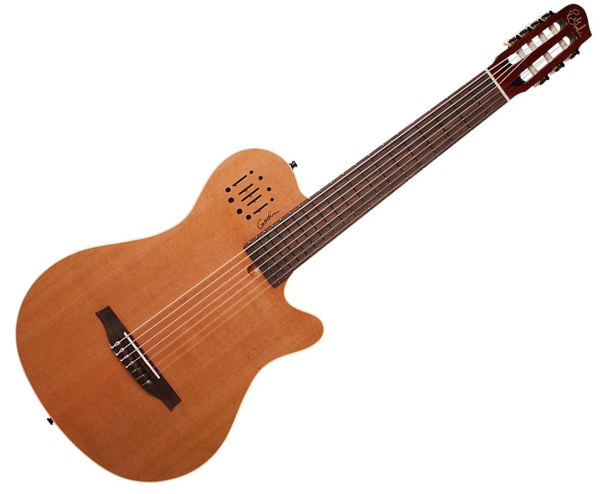godin multiac nylon encore 7 string electric guitar natural used ebay. Black Bedroom Furniture Sets. Home Design Ideas