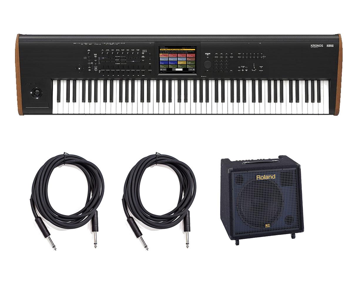 korg kronos 2 88 key music workstation keyboard w roland kc 550 bundle ebay. Black Bedroom Furniture Sets. Home Design Ideas