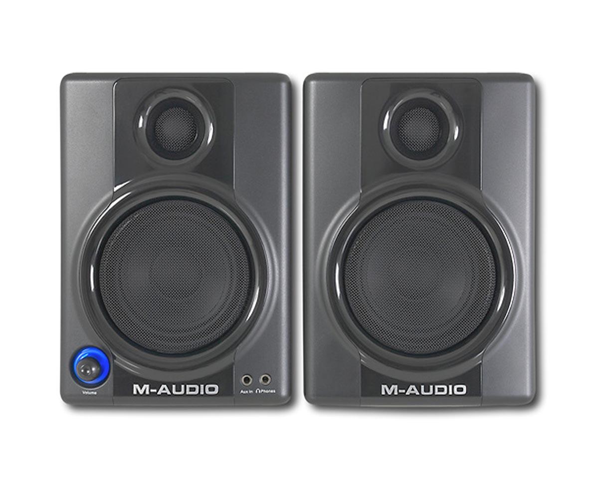 m audio studiophile av30 3 desktop speakers pair av 30 proaudiostar ebay. Black Bedroom Furniture Sets. Home Design Ideas