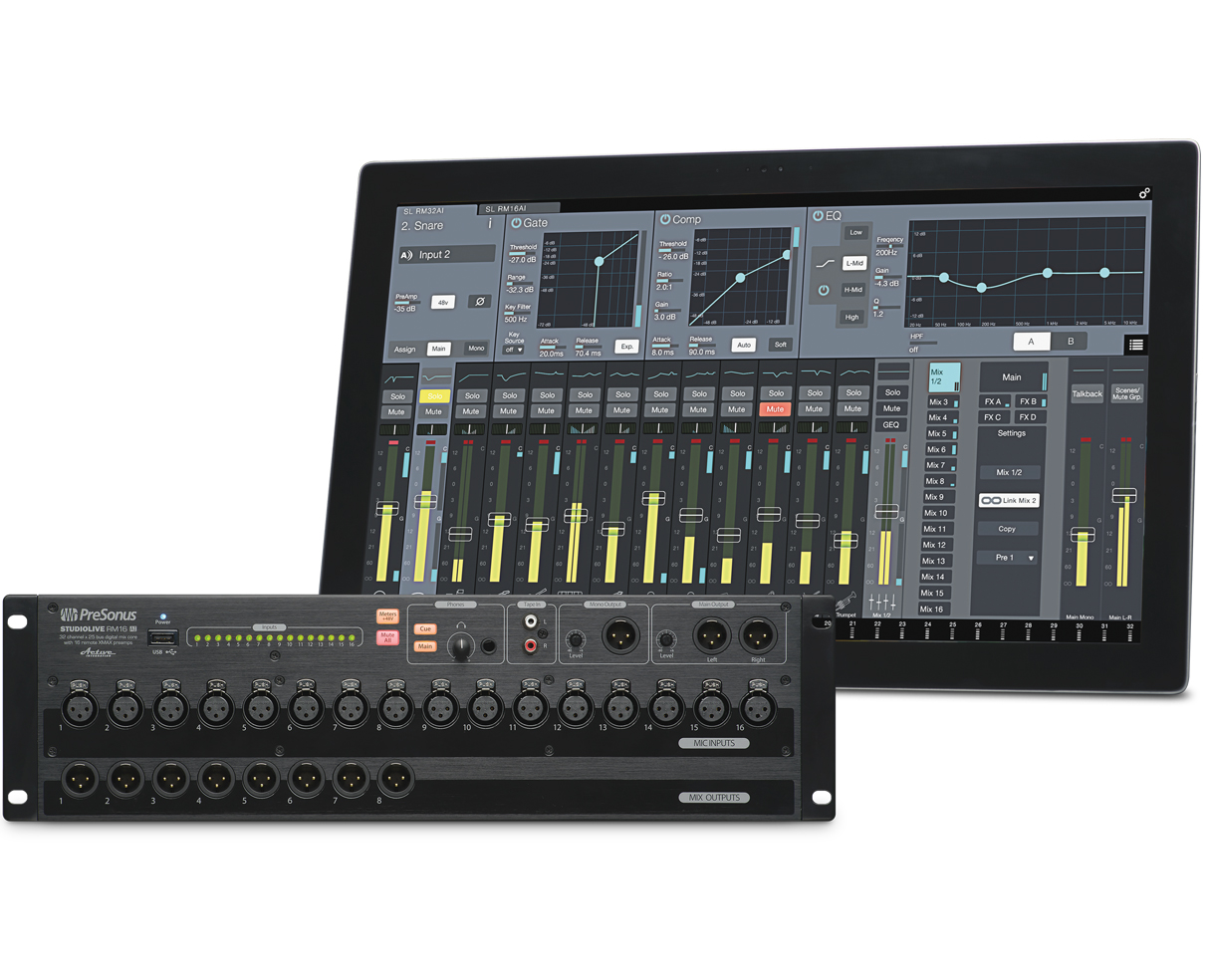 Presonus 32 Channel Digital Mixer Presonus StudioLive RM16AI Rack-Mount Digital Mixer ...