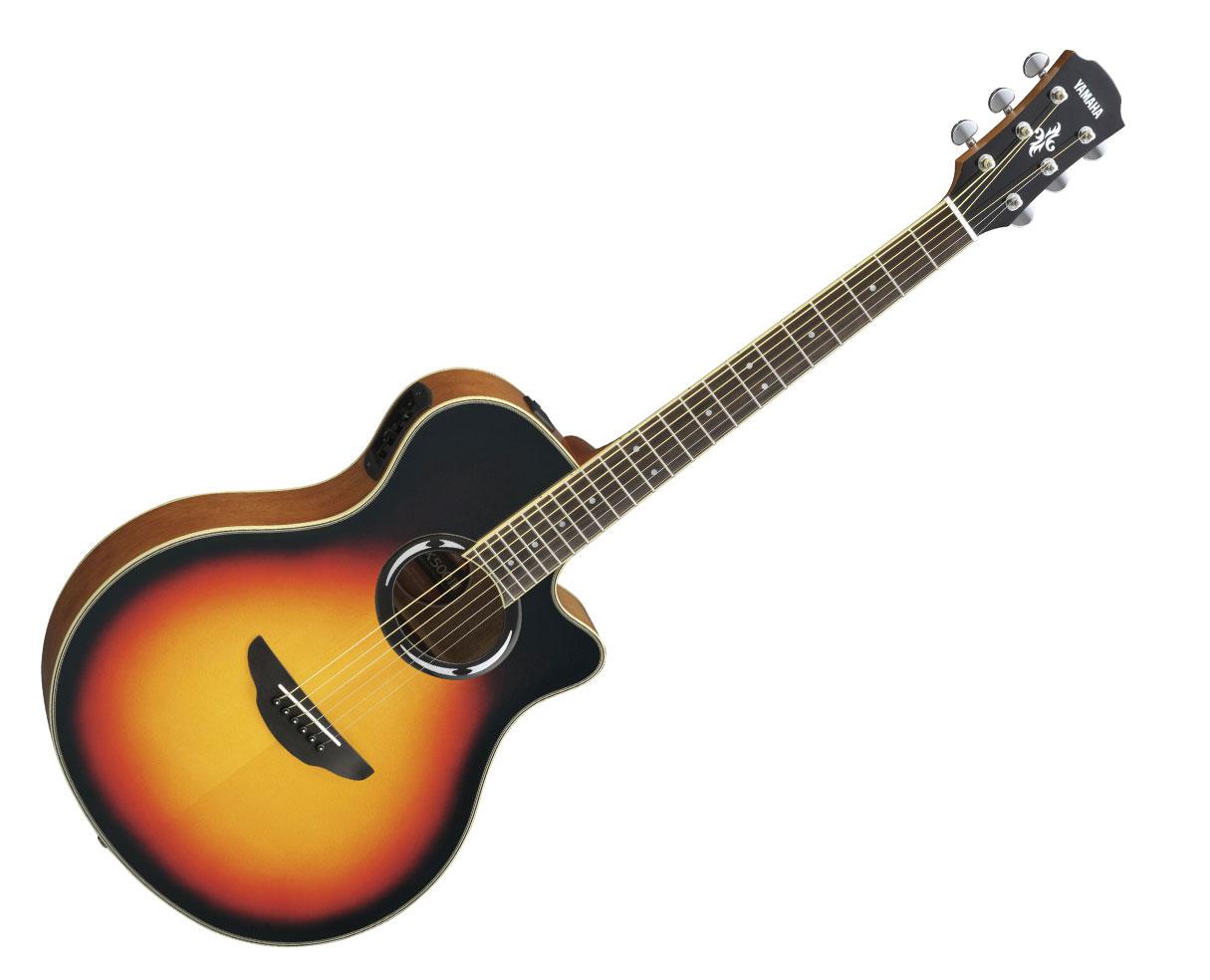 yamaha apx500iii thinline acoustic electric cutaway guitar vintage sunburst ebay. Black Bedroom Furniture Sets. Home Design Ideas