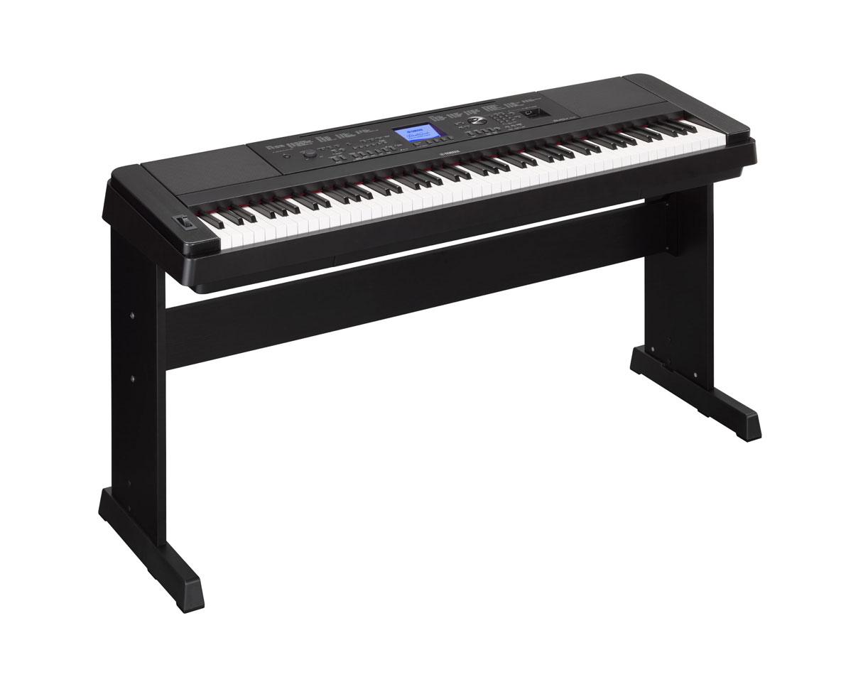 yamaha dgx660b dgx 660 88 key ensemble digital piano w stand proaudiostar ebay. Black Bedroom Furniture Sets. Home Design Ideas